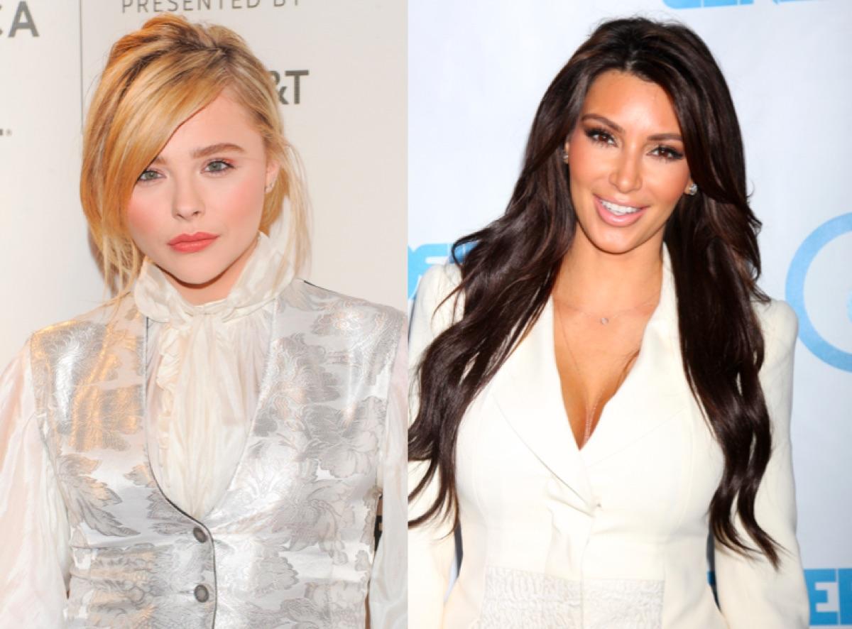 Chloe Grace Moretz and Kim Kardashian