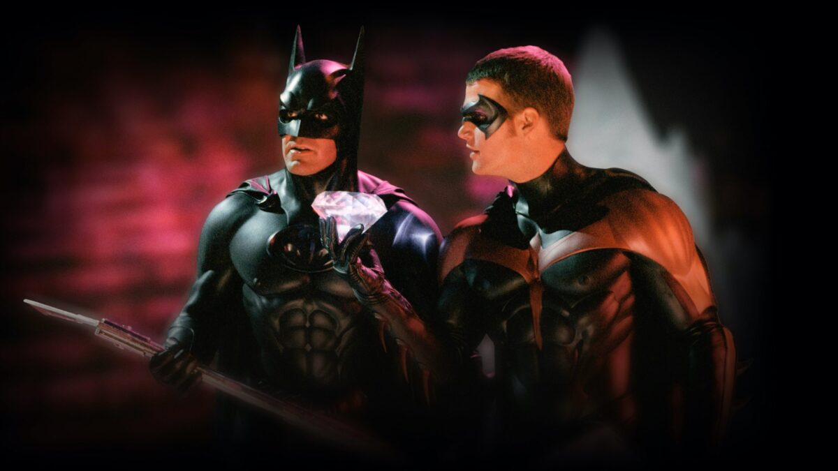 george clooney as batman and chris o'donnell as robin in batman in robin