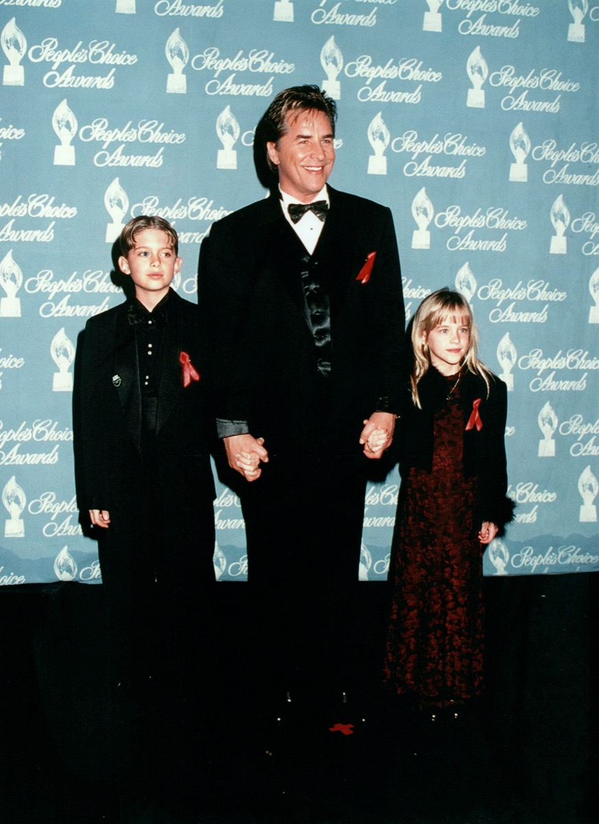Don Johnson with Jesse and Dakota Johnson