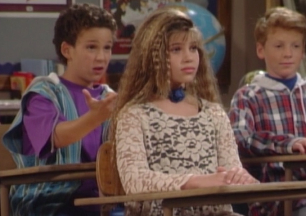 Ben Savage and Danielle Fishel in Boy Meets World