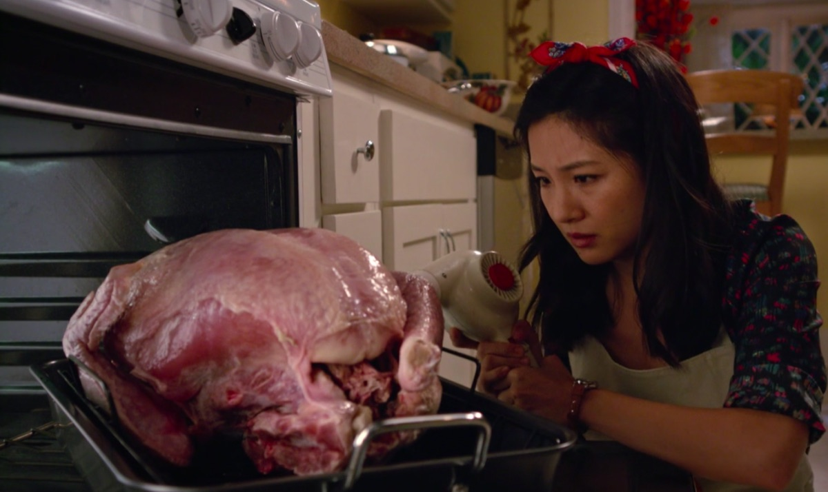 """Still from the Fresh Off the Boat episode """"Huangsgiving"""""""