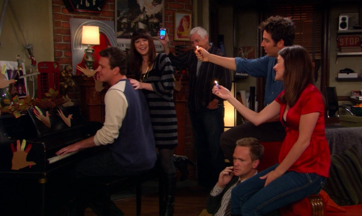"""Still from the How I Met Your Mother Episode """"Slapsgiving"""""""