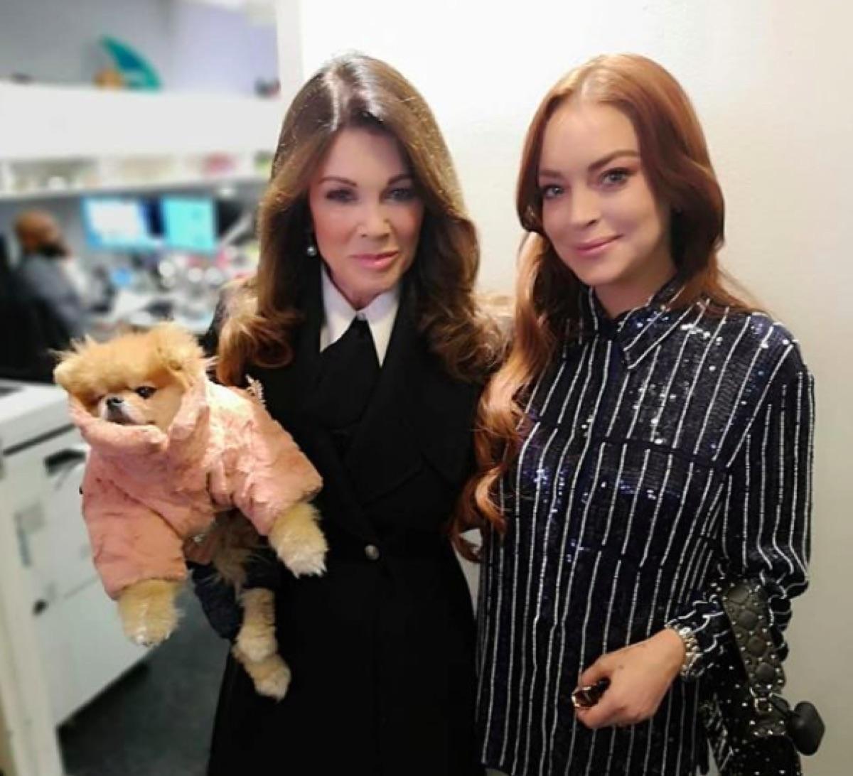 Lisa Vanderpump and Lindsay Lohan