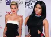 Miley Cyrus and Nicki Minaj