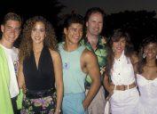 Mark-Paul Gosselaar, Elizabeth Berkley, Mario Lopez, Dennis Haskins, Tiffani-Amber Thiessen and Lark Voorhies in 1990
