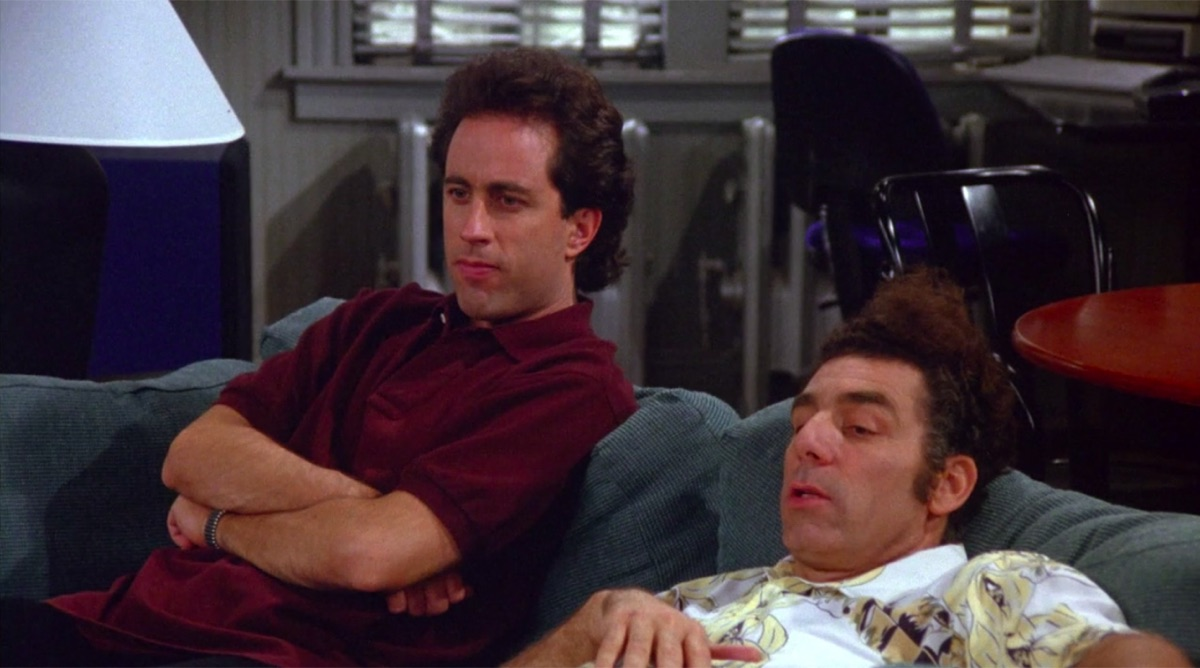 """Still from the Seinfeld episode """"Mom and Pop Store"""""""