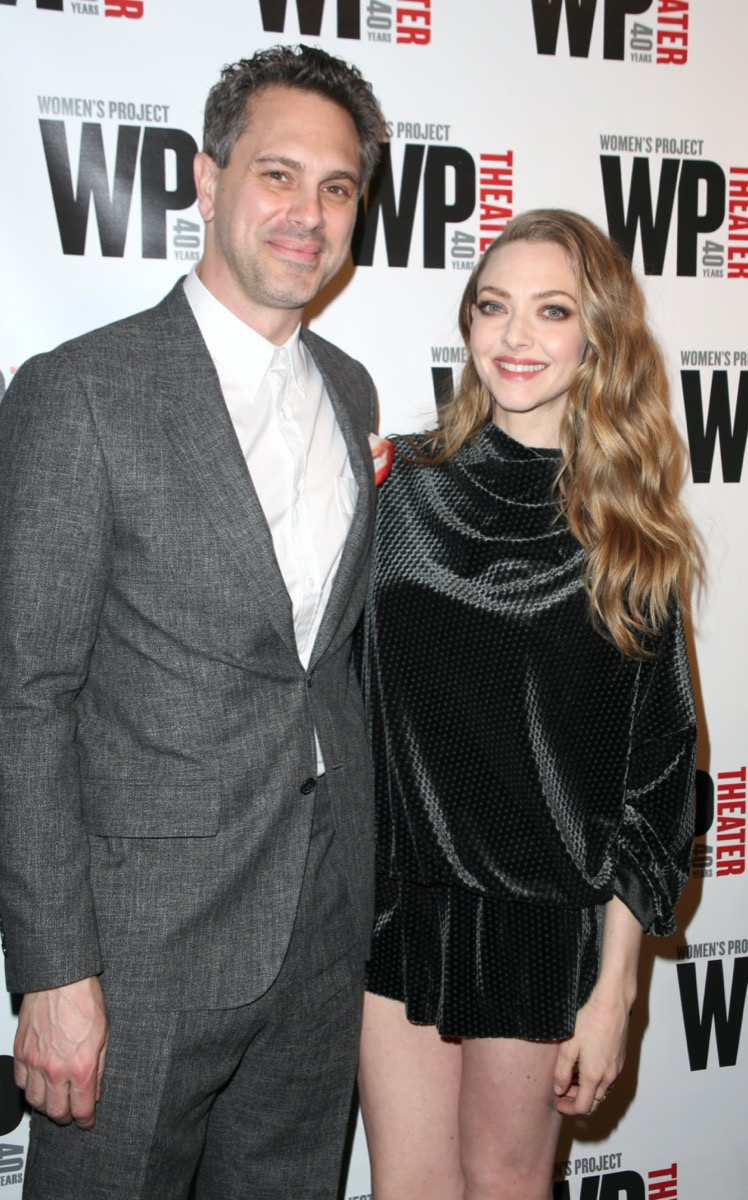 Thomas Sadowski and Amanda Seyfried WP Theater's 40th Anniversary Gala in 2019