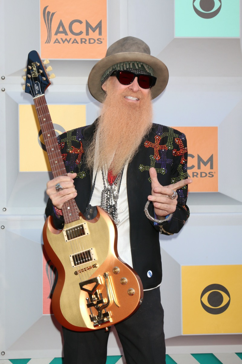 Billy Gibbons at the Academy of Country Music Awards in 2016