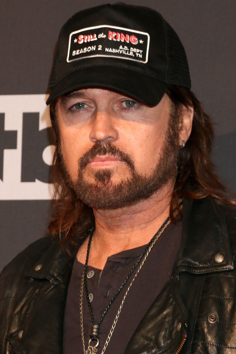 Billy Ray Cyrus wears leather jacket at iHeart Music Awards in 2017