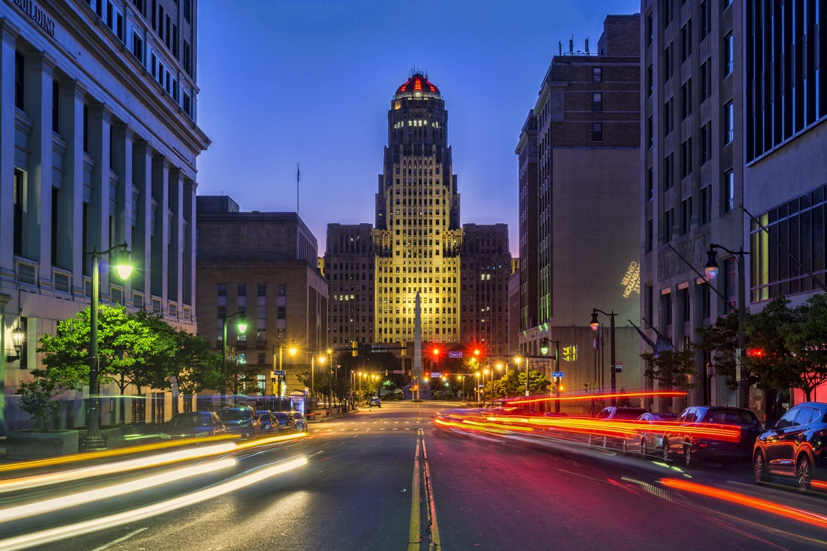 cityscape photo of City Hall and the downtown area of Buffalo, New York