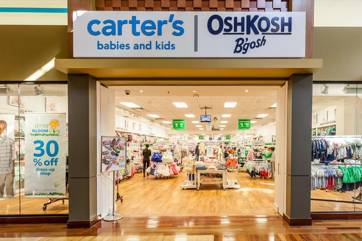 carters and oshkosh store exterior