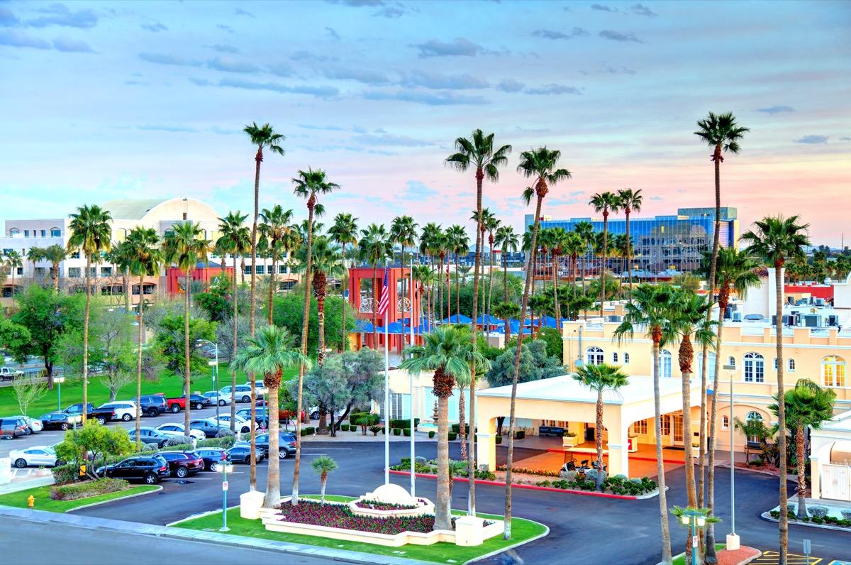 cityscape photo of downtown Chandler, Arizona