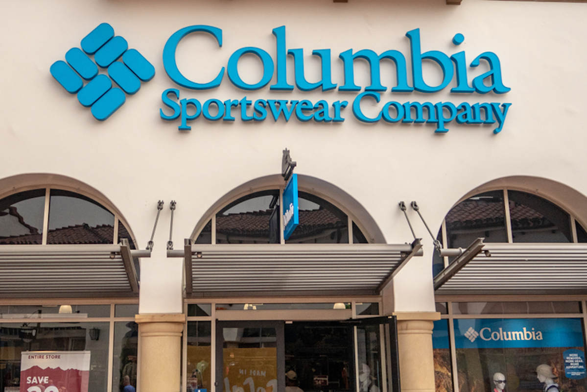 Columbia Store Located in a Premium Outlet Location in San Clemente, California