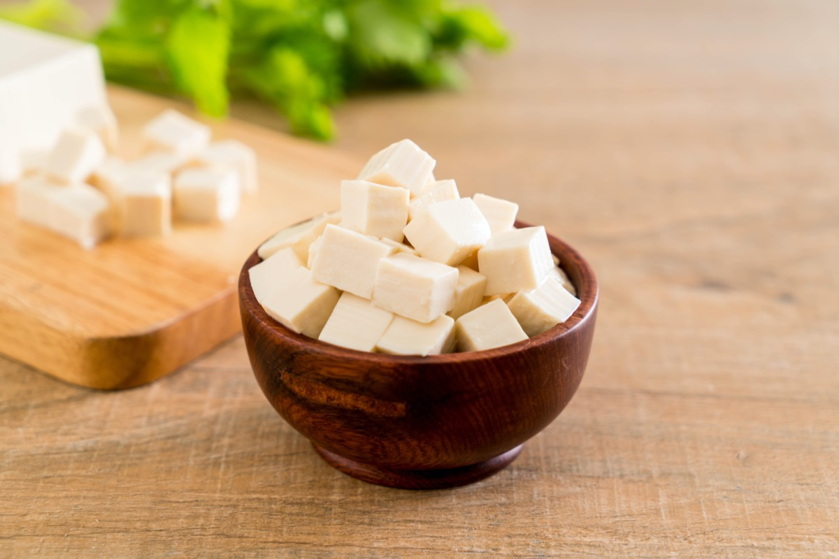 cubed silken tofu