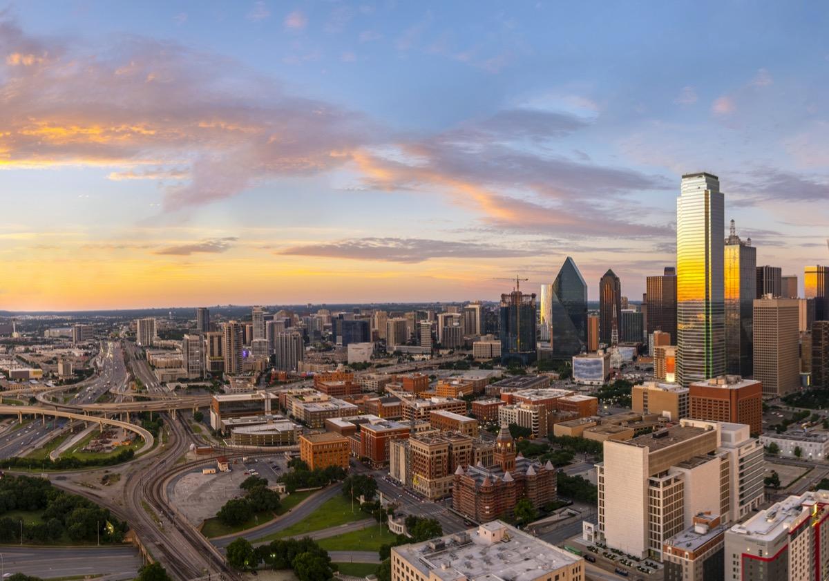 city skyline of Dallas, Texas