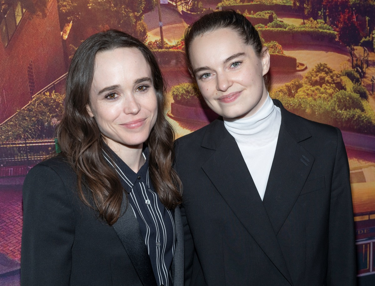 Ellen Page and Emma Portner at the premiere of 'Metrograph' in 2019