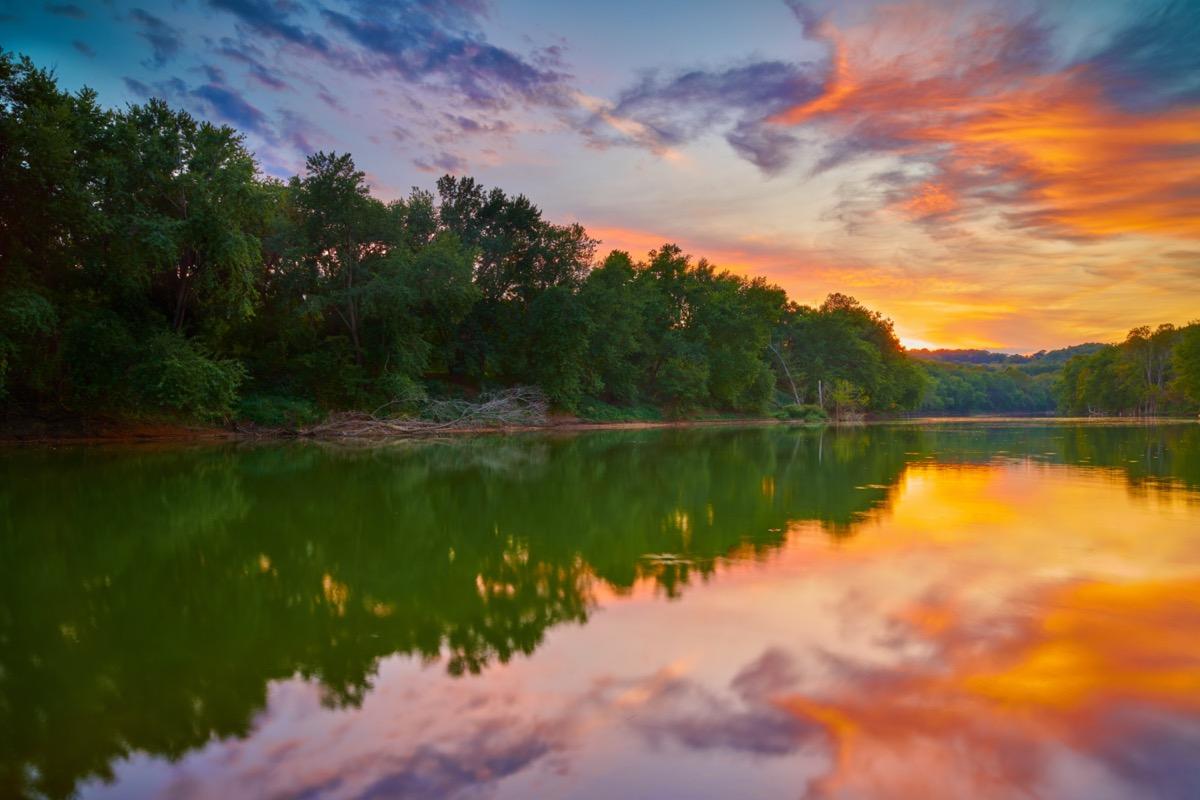 landscape photo of Frankfort, Kentucky at sunrise