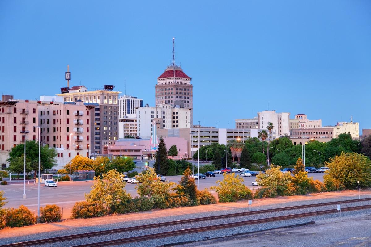cityscape photo of downtown Fresno, California