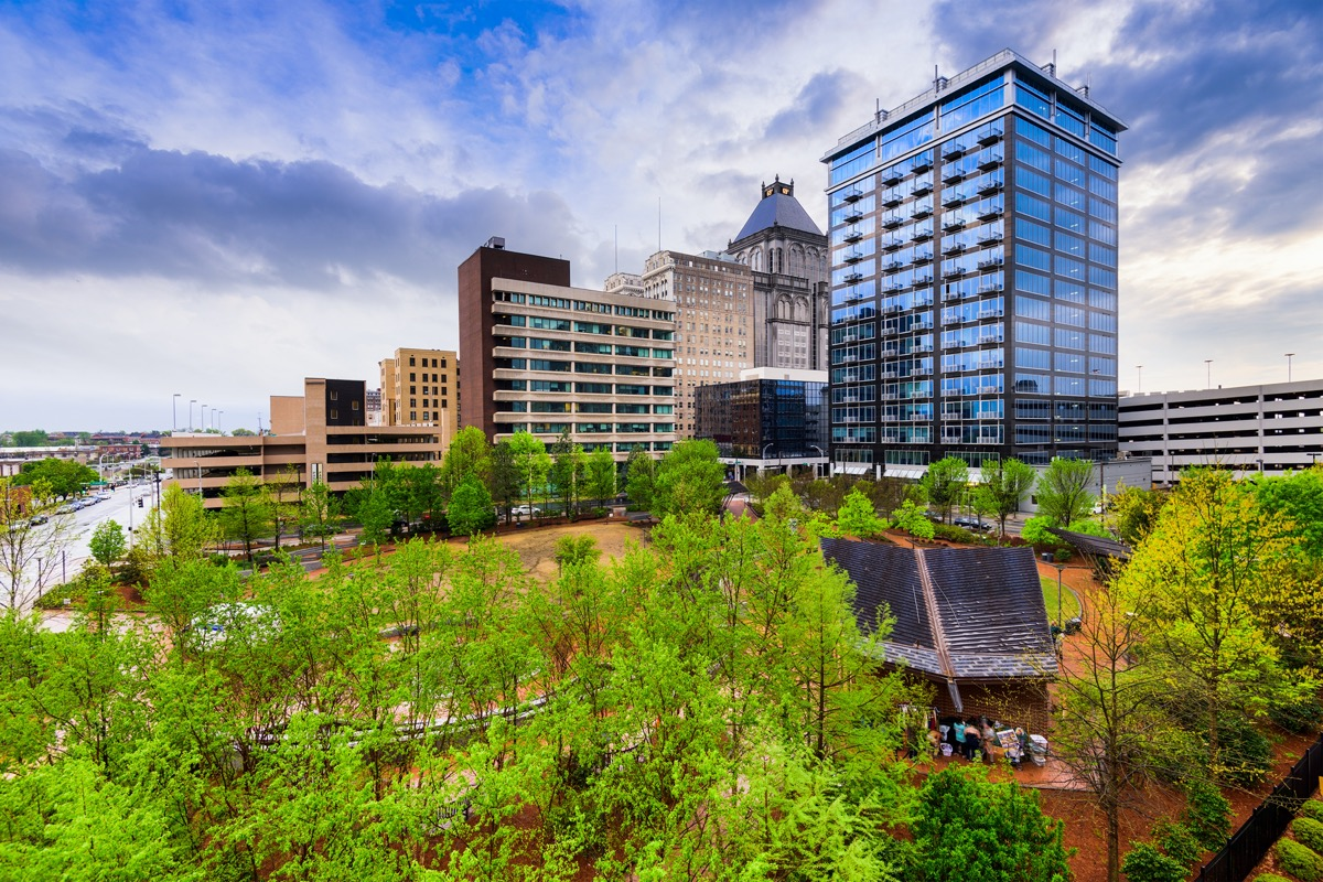 city skyline of Greensboro, North Carolin