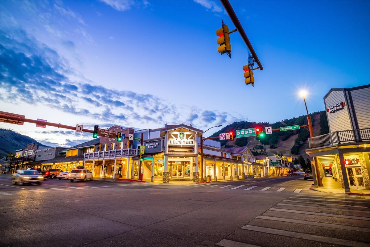 cityscape photo of downtown Jackson Hole, Wyoming