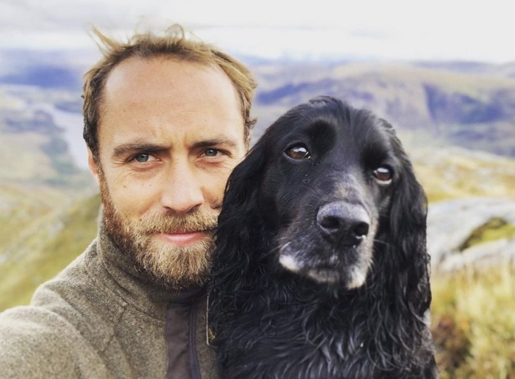 James Middleton and his dog