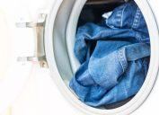 Jeans in washing machine