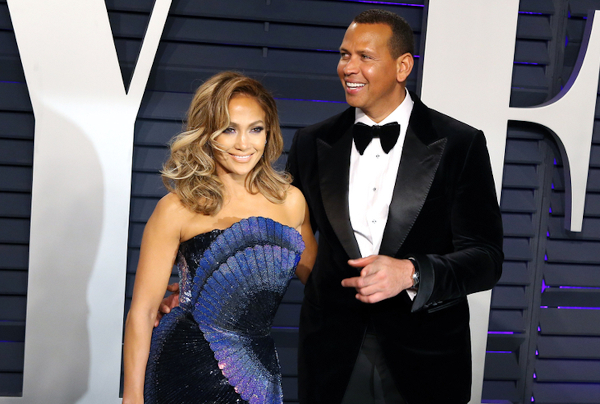 Jennifer Lopez, Alex Rodriguez at the 2019 Vanity Fair Oscar Party at The Wallis Annenberg Center for the Performing Arts on February 24, 2019 in Beverly Hills, CA