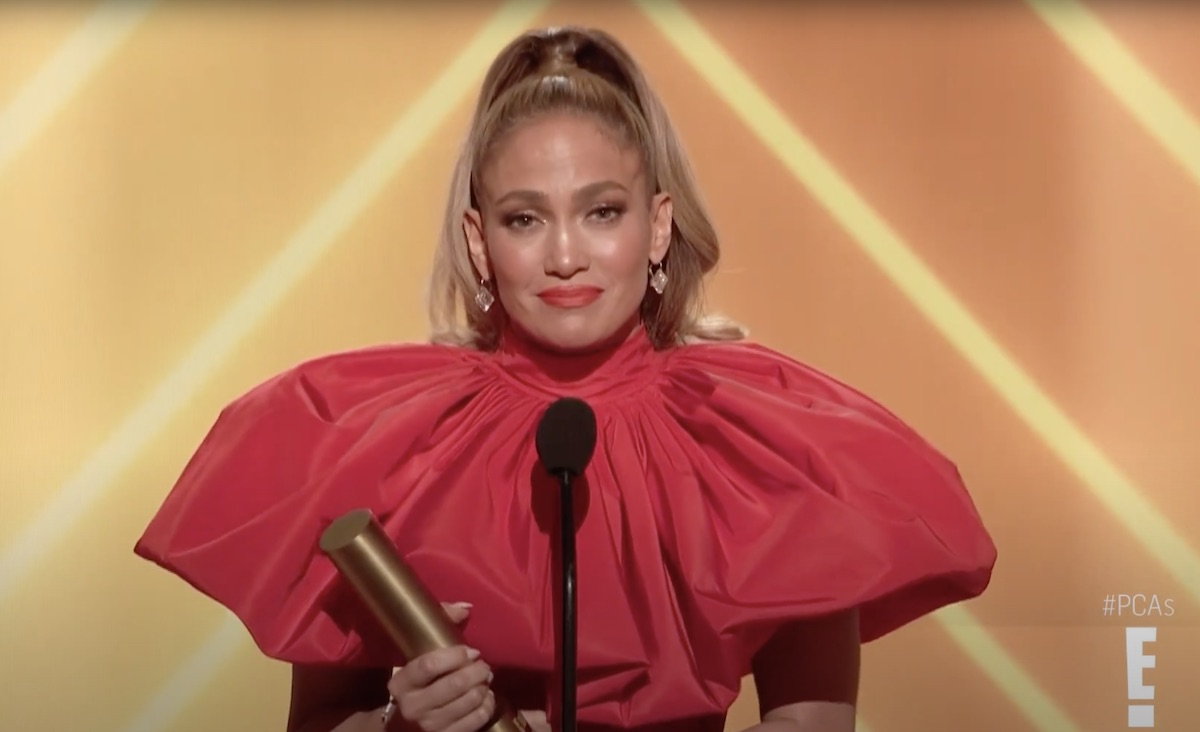 Jennifer Lopez accepts People's Icon of 2020 award at People's Choice Awards with moving speech