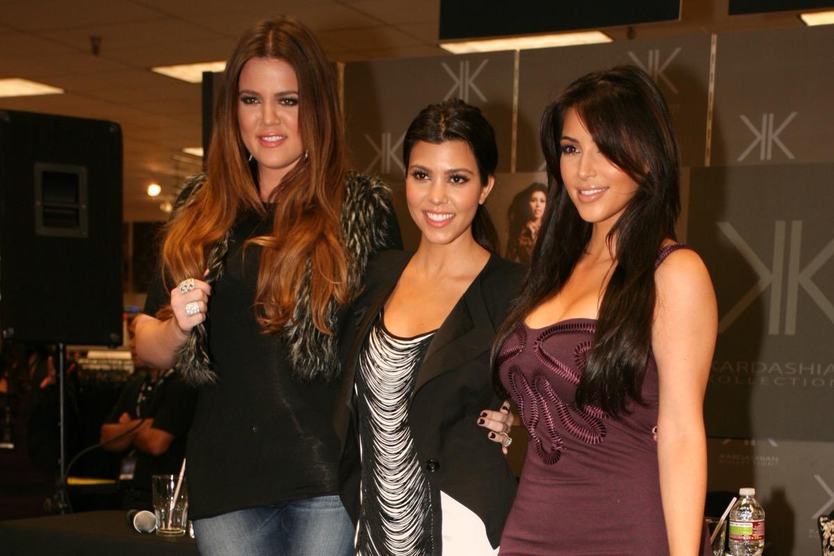Kourtney, Khloe, and Kim Kardashian