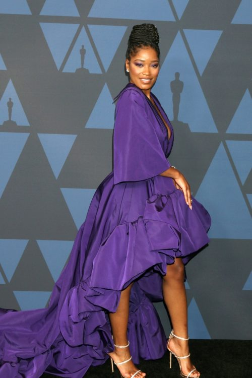 Keke Palmer wears a purple dress at the 11th Annual Governors Awards in 2019