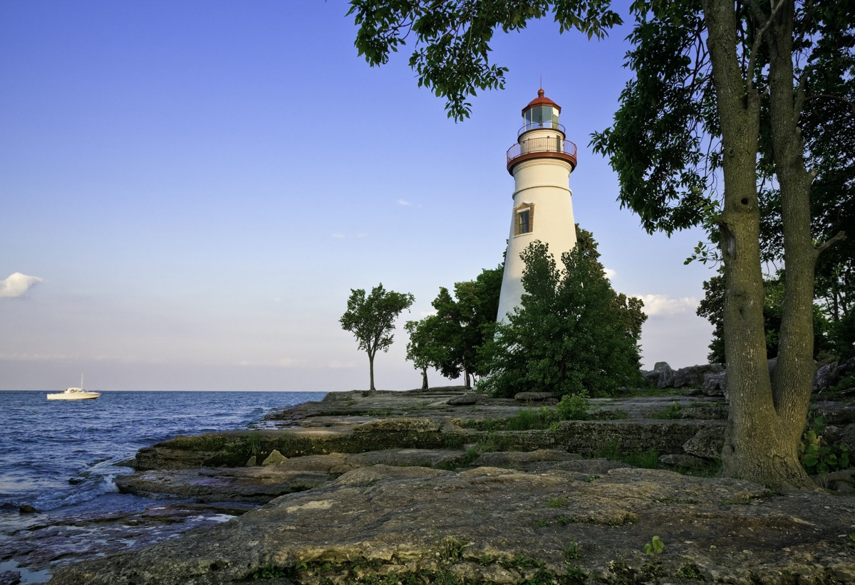 Lake Erie and Ohio's Marblehead Lighthouse in Erie County, Ohio