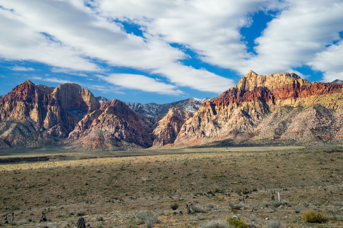 mountains along Red Rock Canyon National Conservation in Las Vegas, Nevada