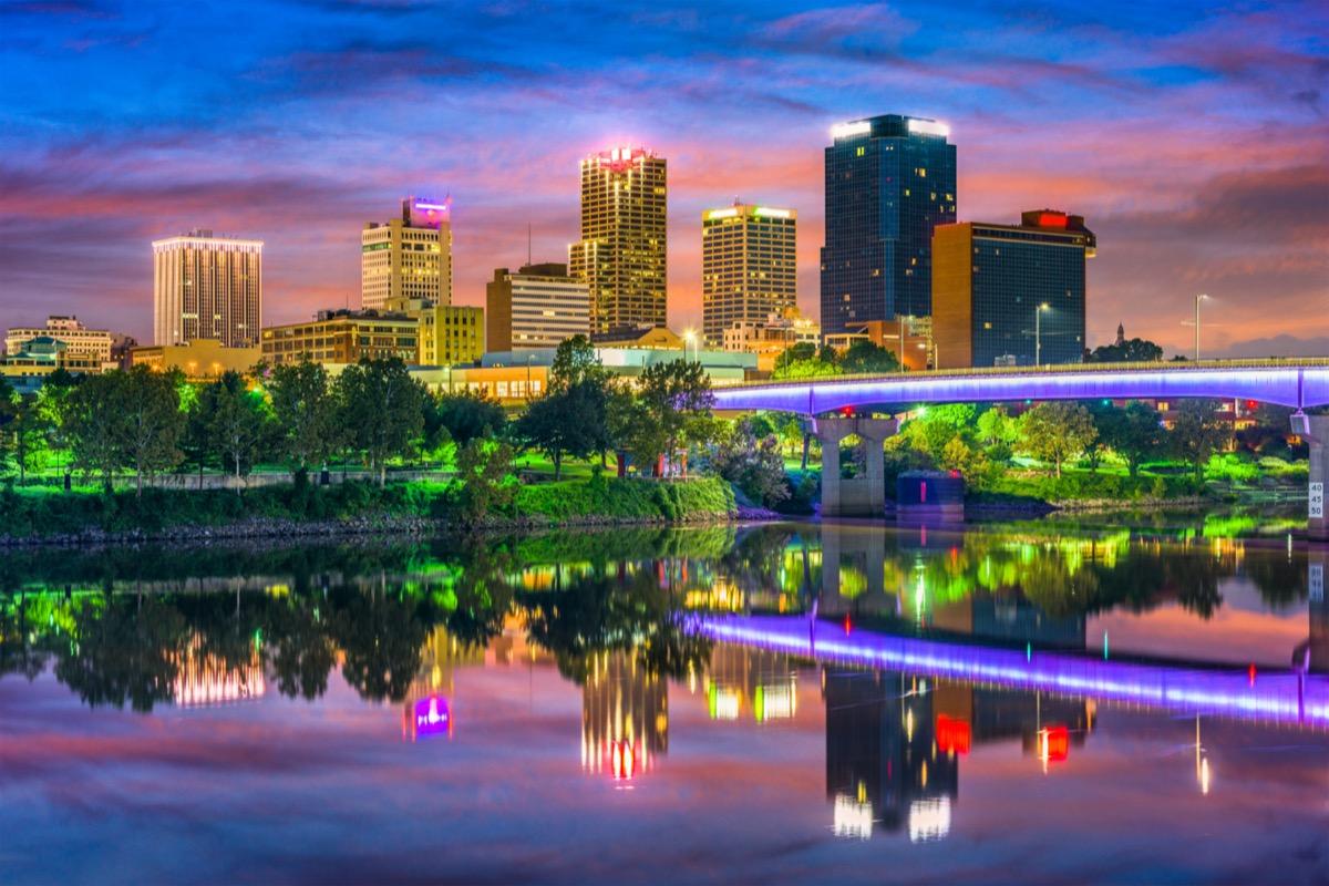 cityscape photo of Little Rock, Arkansas at sunset