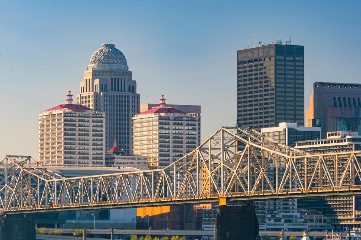 city skyline of downtown Louisville, Kentucky