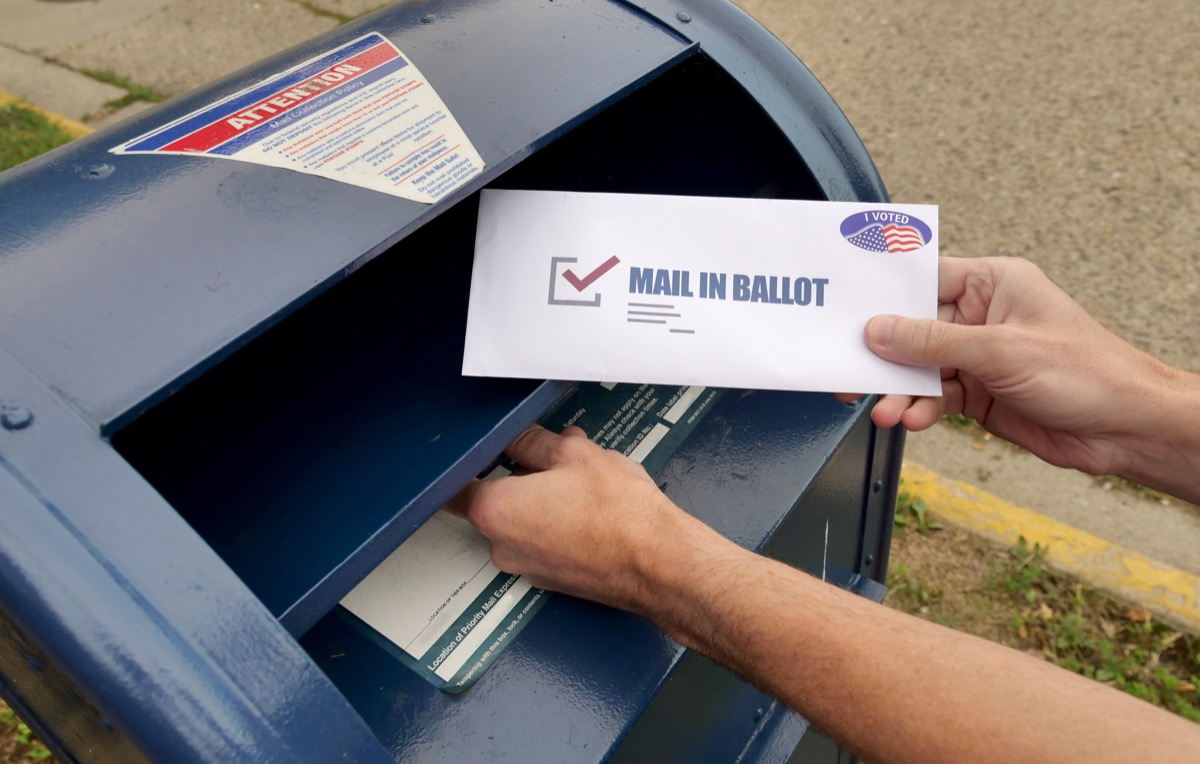 Mail-in voting ballot