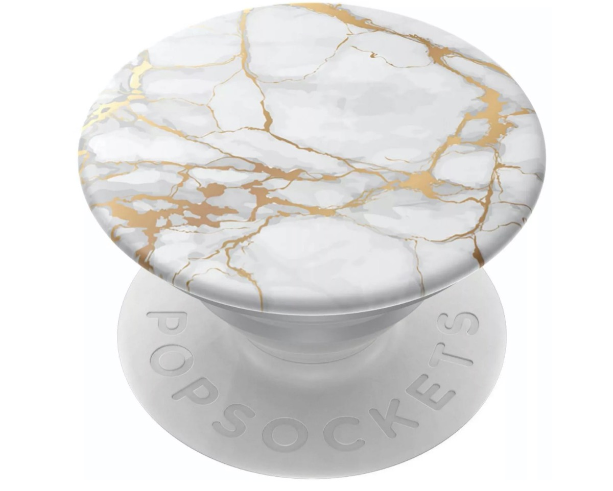 white and gold marble popgrip