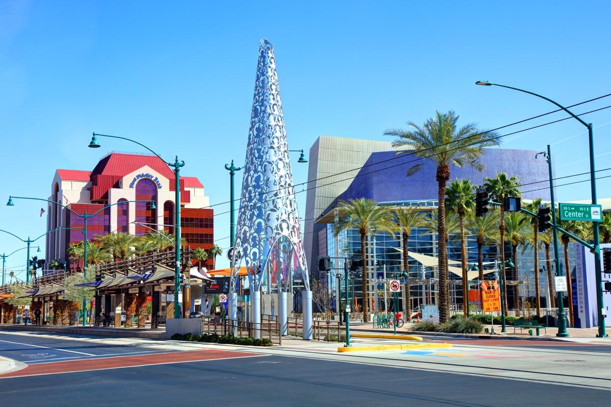 cityscape photo of downtown Mesa, Arizona