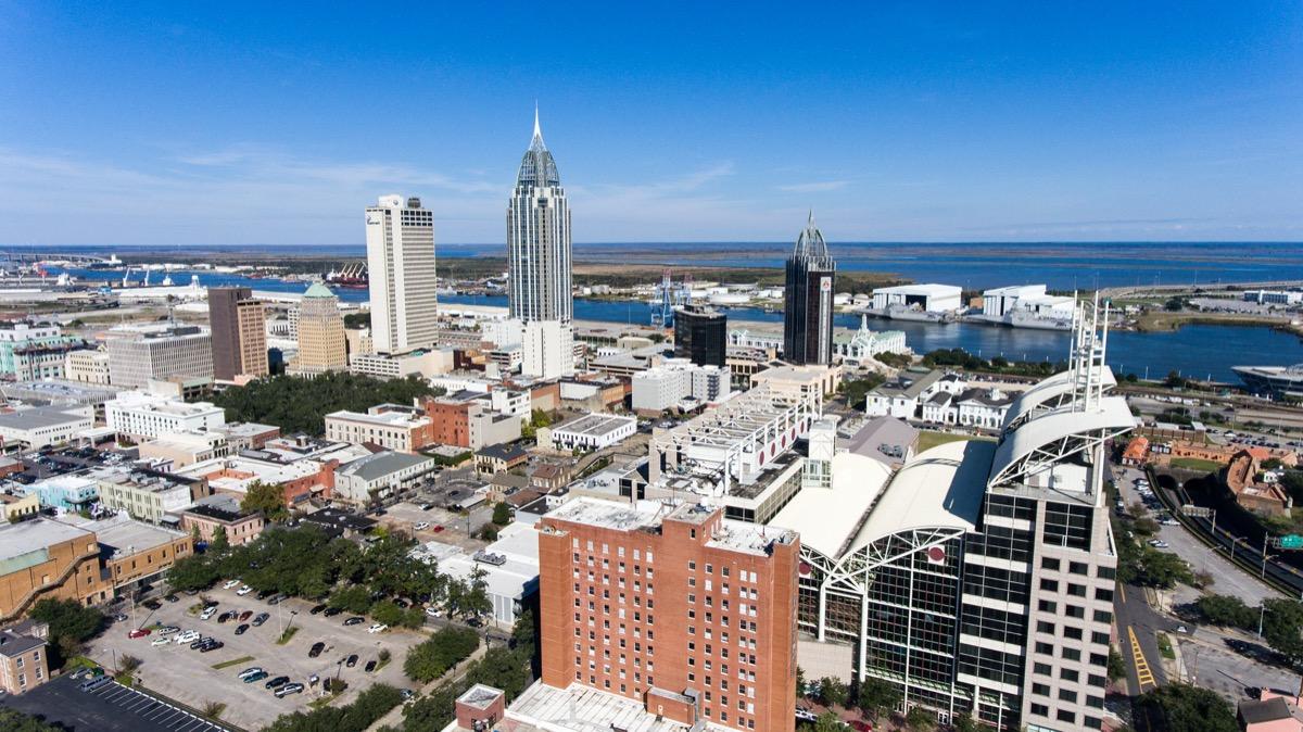 cityscape photo of Mobile, Alabama