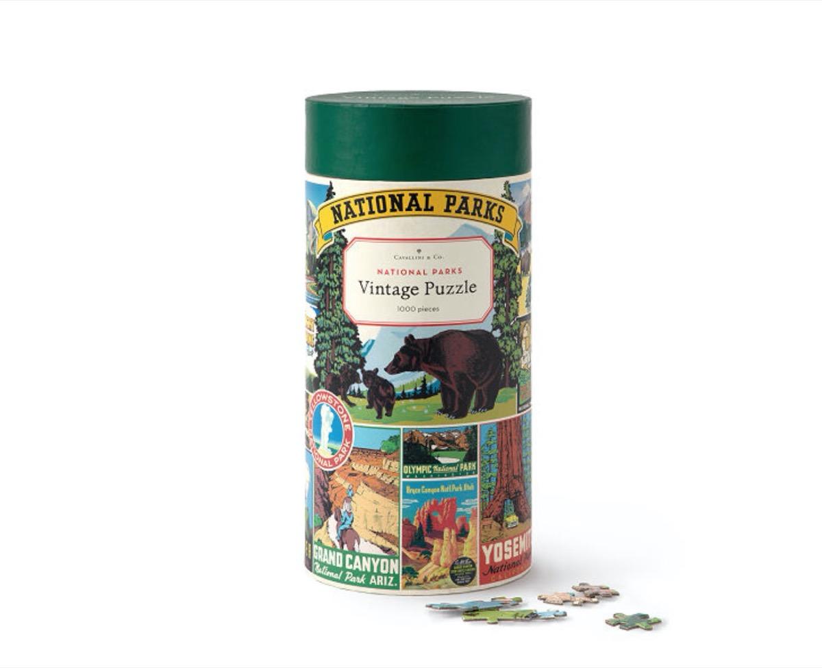 vintage national parks puzzle