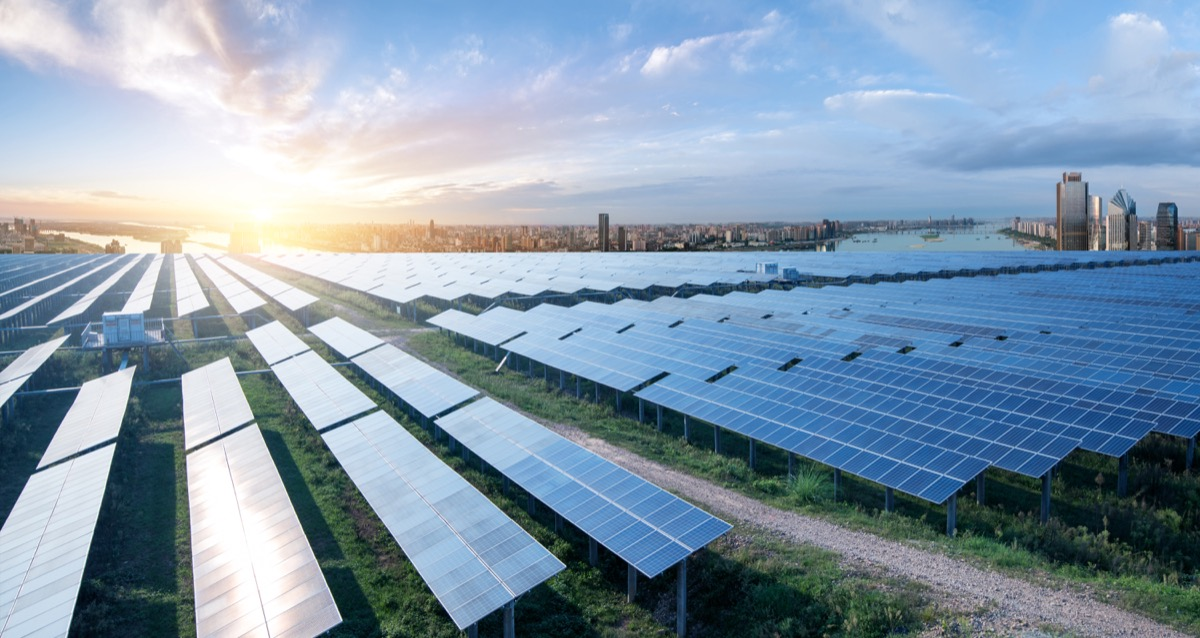 Carbon neutral goal to be net zero with solar panels