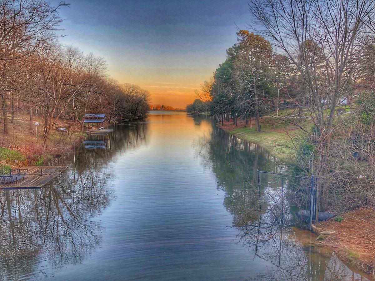 landscape photo of Little Rock, Arkansas at sunset