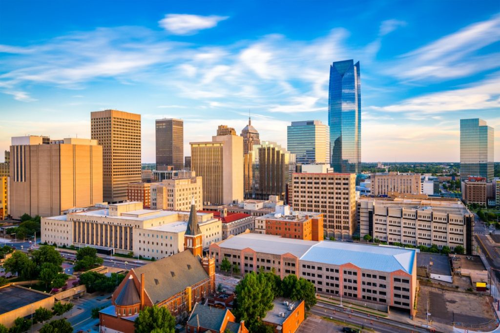 city skyline of downtown Oklahoma City, Oklahoma