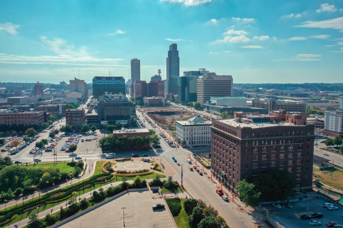 cityscape photos of buildings and streets in Omaha, Nebraska