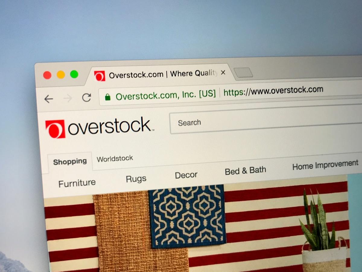 overstock website