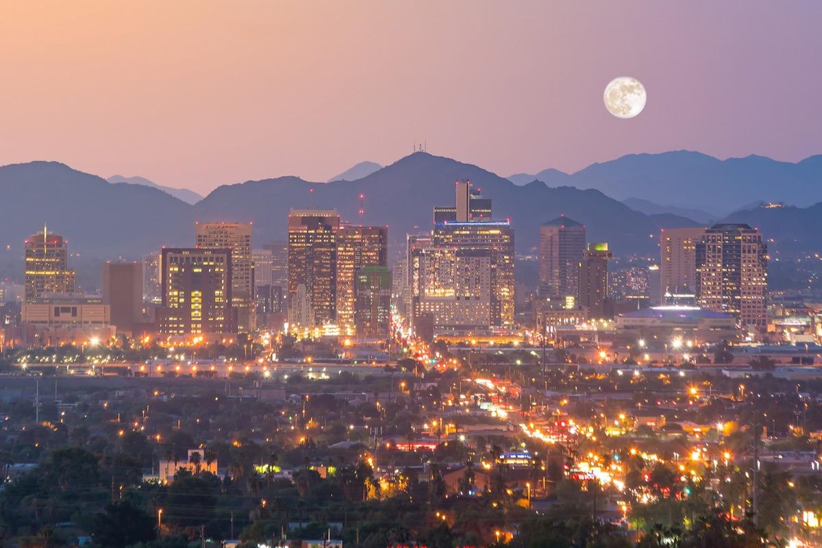 cityscape photo of Phoenix, Arizona at night
