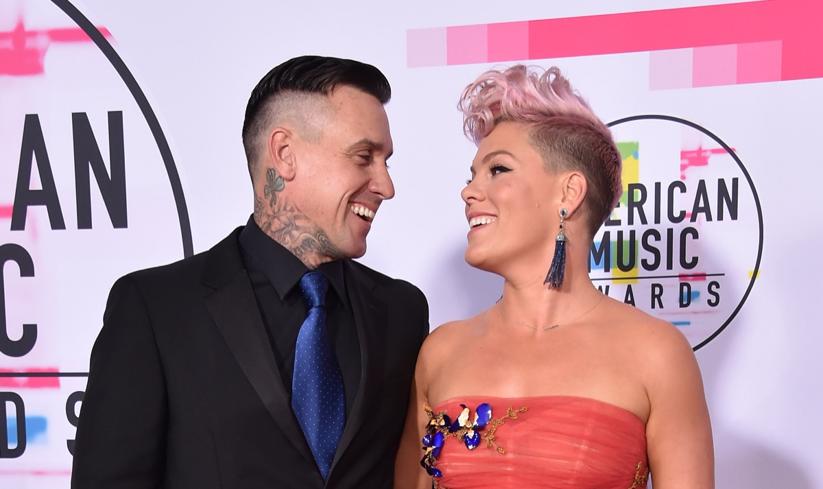 pink and husband Carey heart