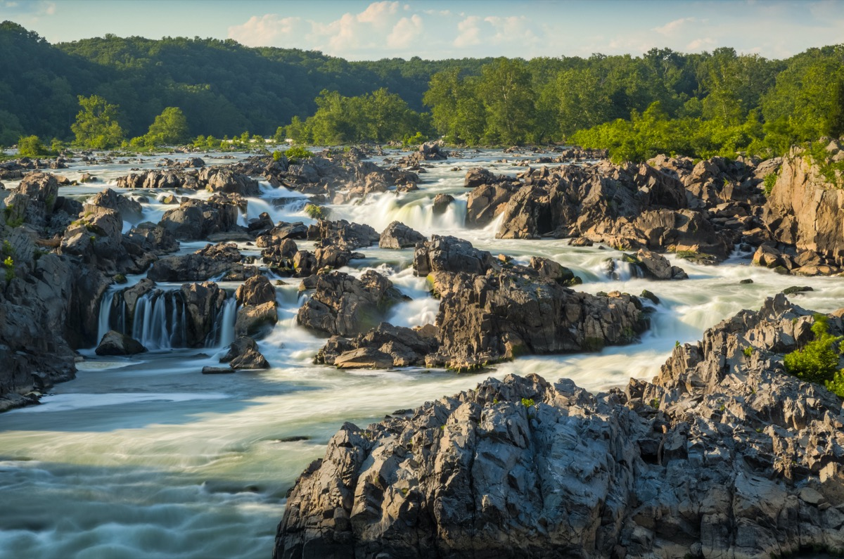 the Great Falls of Potomac in Potomac, Maryland