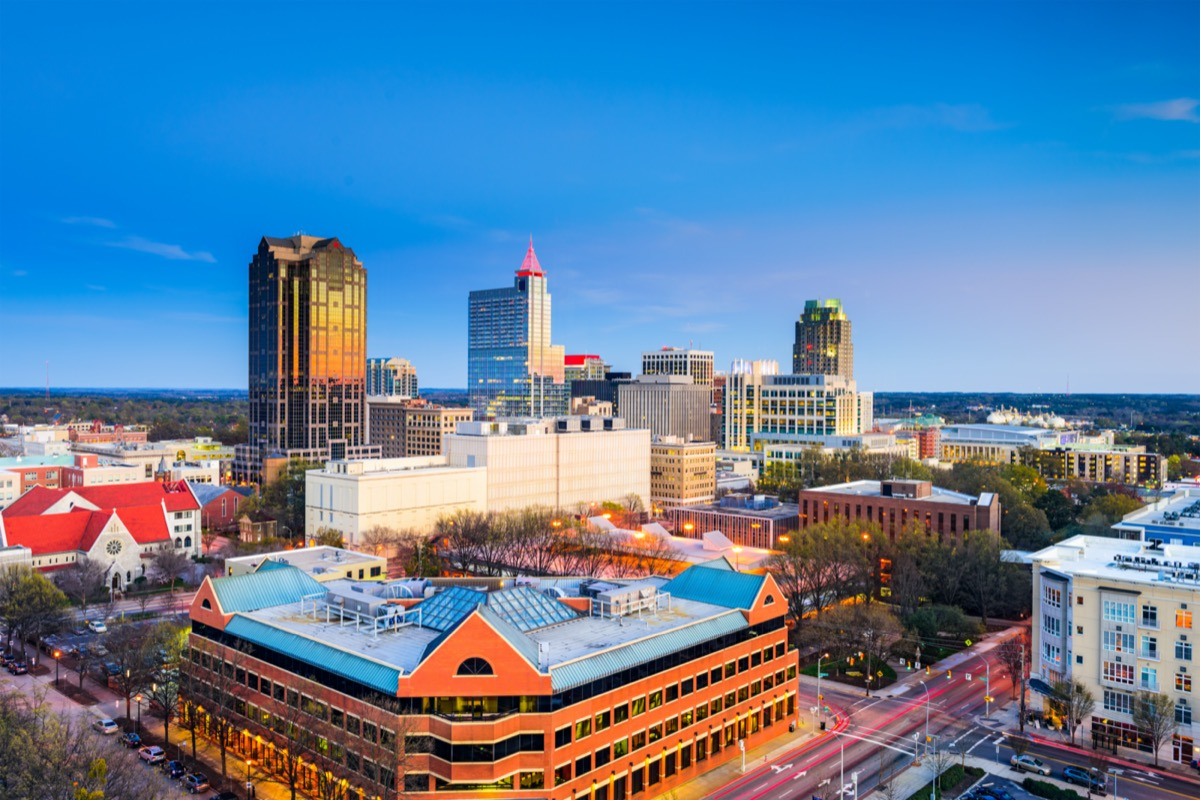cityscape photo of Raleigh, North Carolina