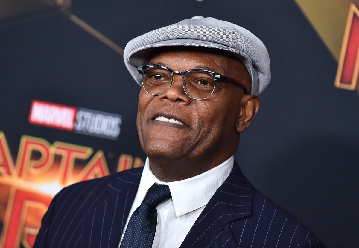 Samuel L. Jackson at the premiere of 'Captain Marvel' in 2019