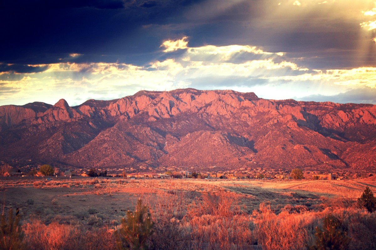 landscape photo of Sandia Mountains, New Mexico